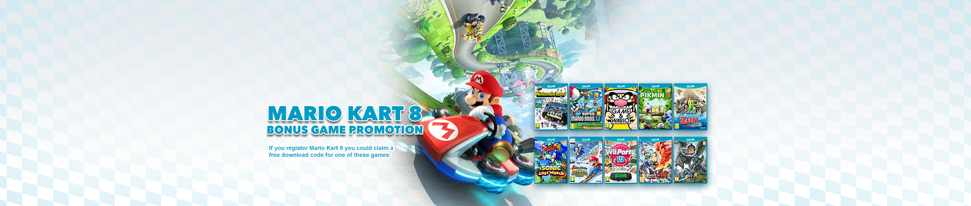 Mario Kart 8 Bonus Game Promotion