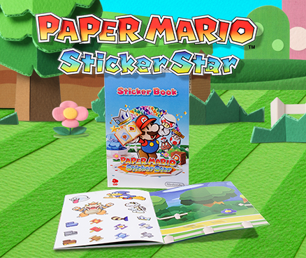 Get stuck in and claim your free limited edition Paper Mario: Sticker Star sticker book!