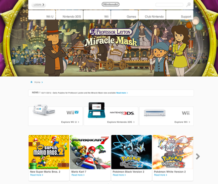 New official Nintendo of Europe website launched!