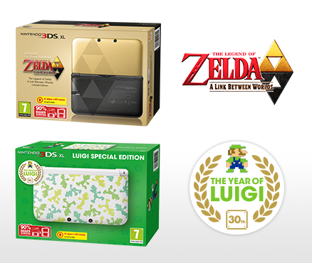 The Legend of Zelda: A Link Between Worlds Limited Edition & Luigi Special Edition Nintendo 3DS XL consoles coming to Europe