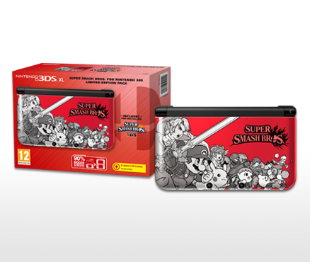 Show off your fighting flair with the Super Smash Bros. for Nintendo 3DS Limited Edition Pack on 3rd October