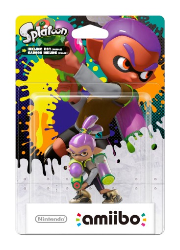 Inkling Chico Violeta Splatoon Collection Nintendo