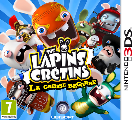 the lapins cretins la grosse bagarre nintendo 3ds jeux nintendo. Black Bedroom Furniture Sets. Home Design Ideas