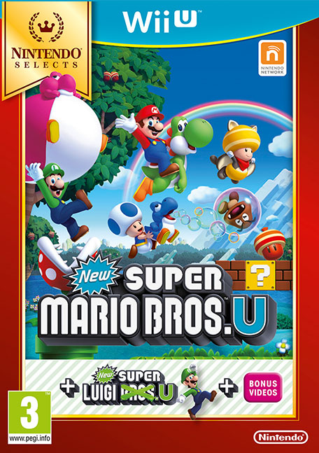 Wii U Games : New super mario bros u luigi wii