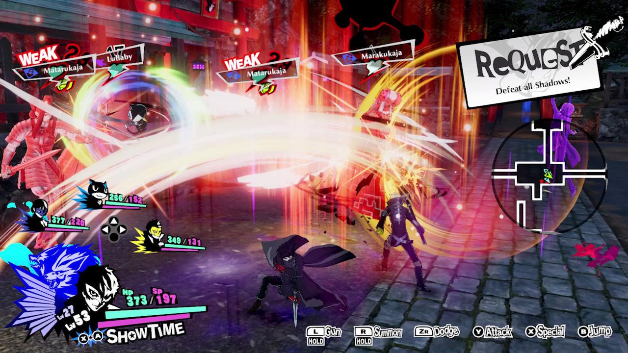 Gameplay de Persona 5 Strikers.