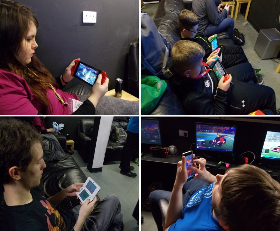 Photograph of Nintendo South Wales event, January 2018.