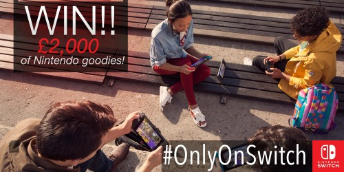 Share your #OnlyOnSwitch moment for a chance to be in a Nintendo advert!