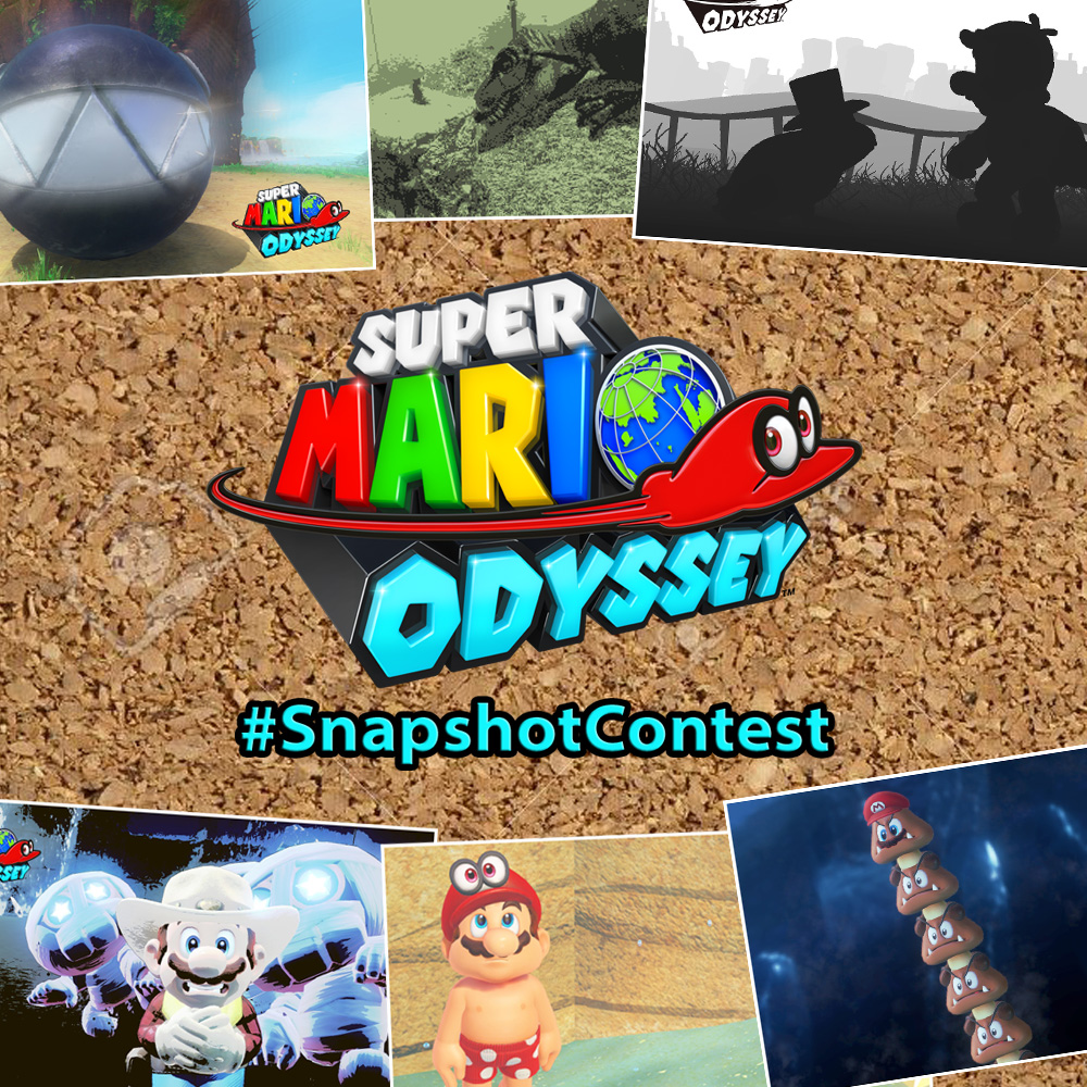 Share your Super Mario Odyssey snaps in our #SnapshotContest for the chance to win your very own Cappy hat!