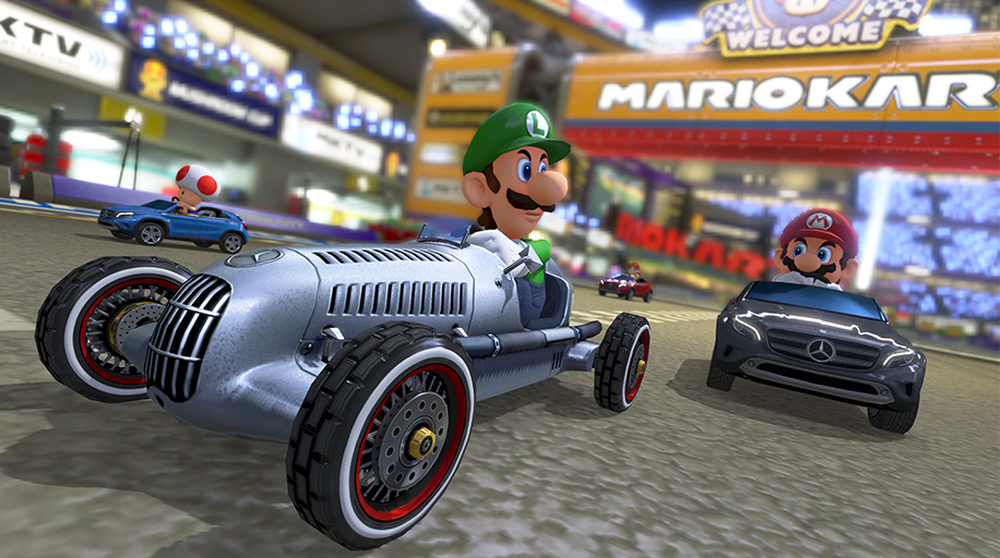 Nintendo adds three mercedes benz cars and enhancements to for Mercedes benz car racing games