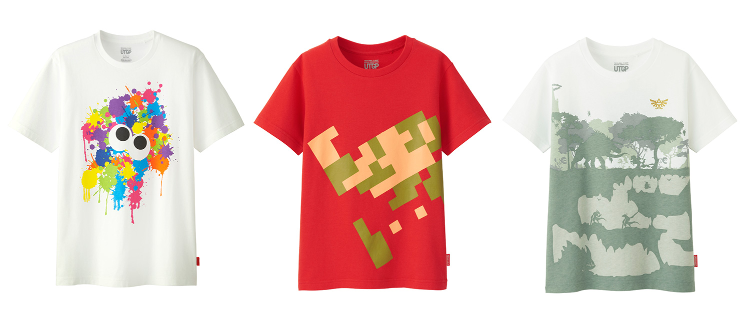 Nintendo x uniqlo t shirt designs now available to for Newspaper t shirt designs