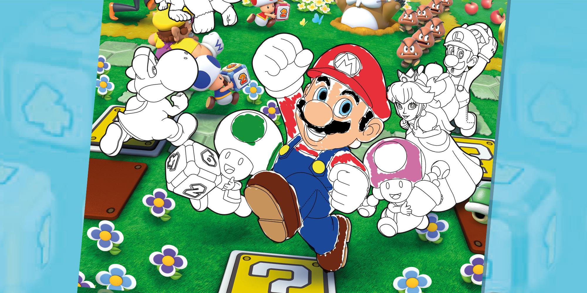 Nabor Oblozhek Mario Party Nintendo Kids