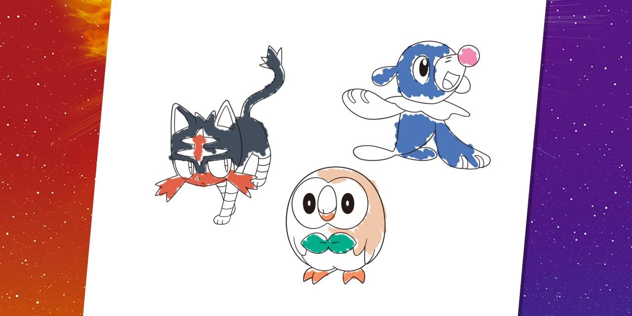 Раскраска с покемонами | Nintendo Kids