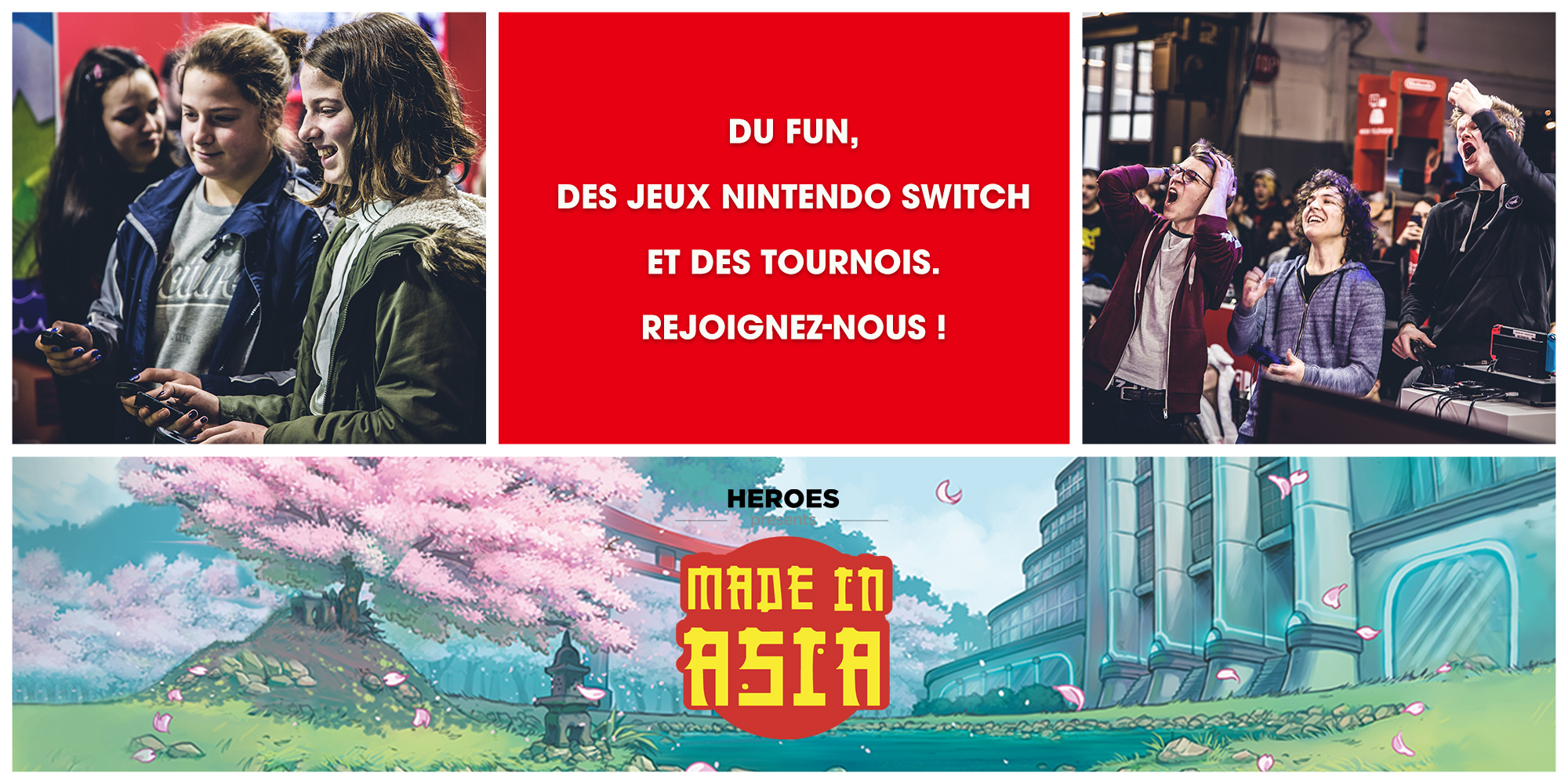 Visitez le stand Nintendo durant Made In Asia !