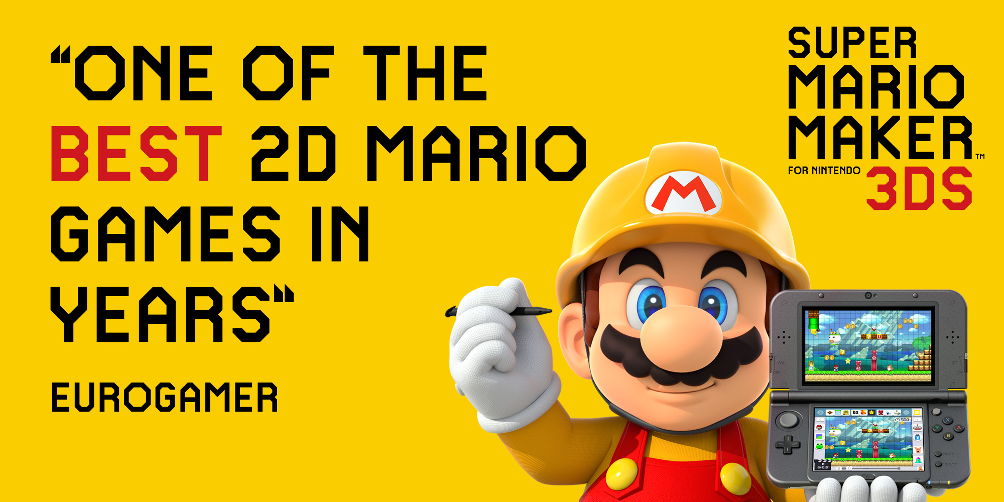 Find out what critics think of Super Mario Maker for Nintendo 3DS