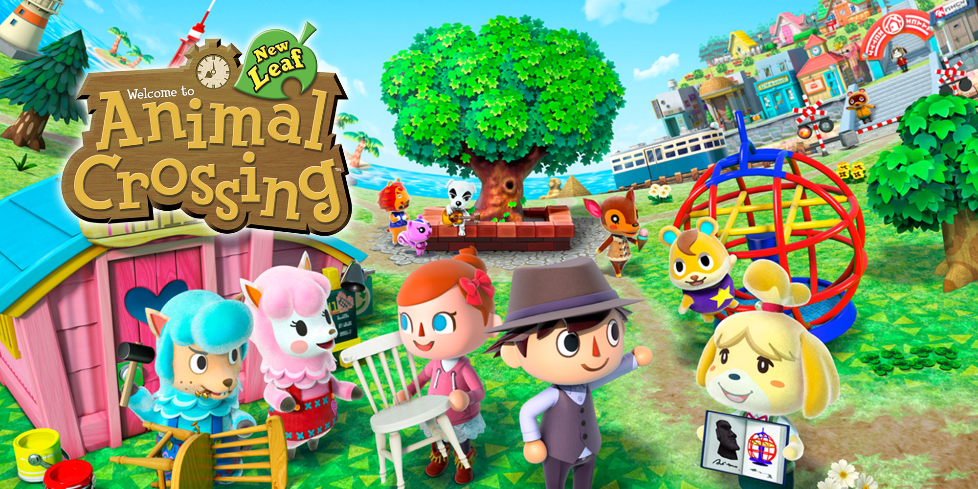 Animal crossing new leaf nintendo 3ds games nintendo for Agrandissement maison animal crossing wii