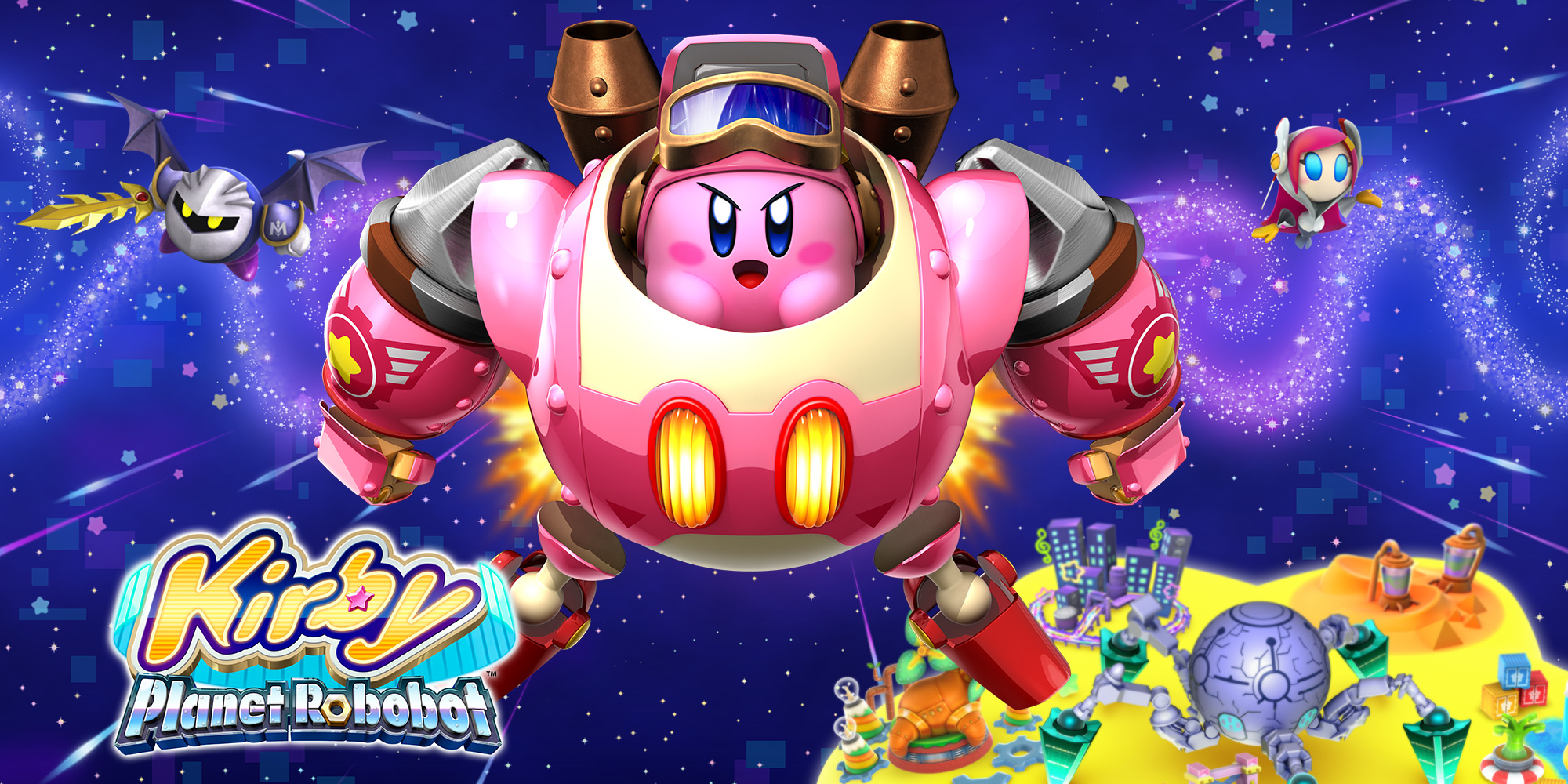 Save Planet Popstar From A Robotic Army When Kirby Planet