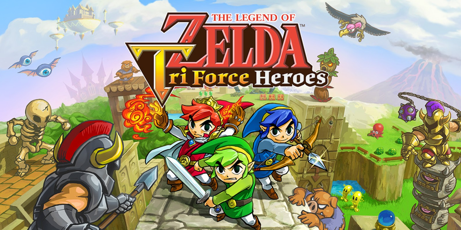 The Legend Of Zelda Tri Force Heroes Nintendo 3ds Juegos Nintendo