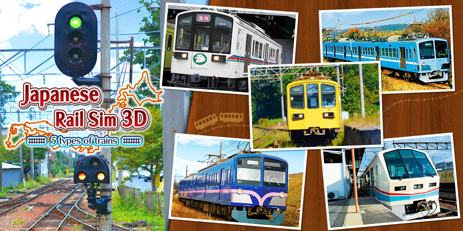 Japanese Rail Sim 3D  5 types of trains