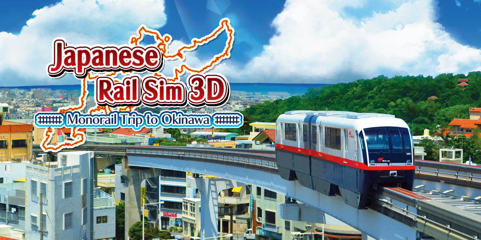Japanese Rail Sim 3D Monorail Trip to Okinawa | Nintendo 3DS