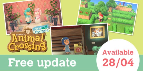 Free update coming to Animal Crossing: New Horizons on April 28th!