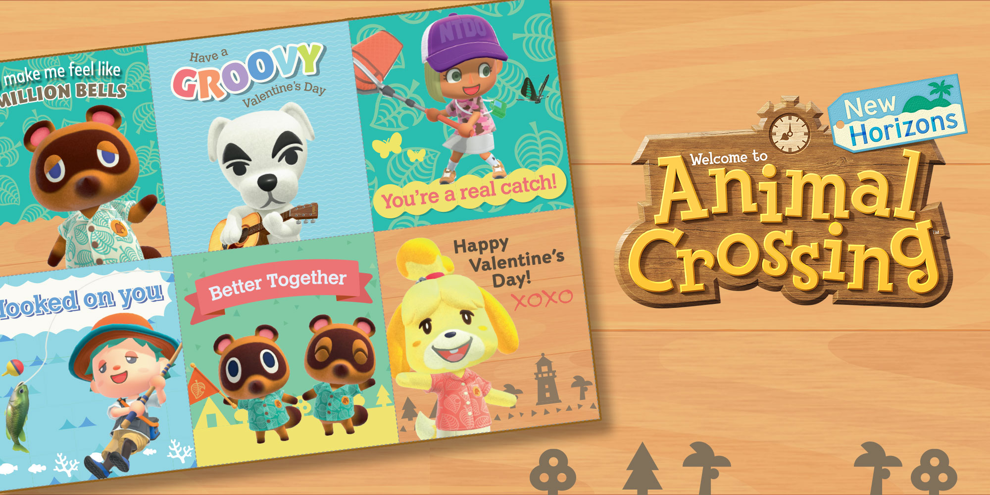 Celebrate Valentine's Day with these adorable Animal Crossing cards!