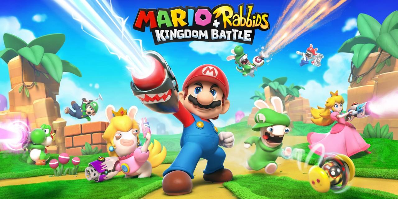 Mario rabbids kingdom battle nintendo switch games for Housse nintendo switch mario