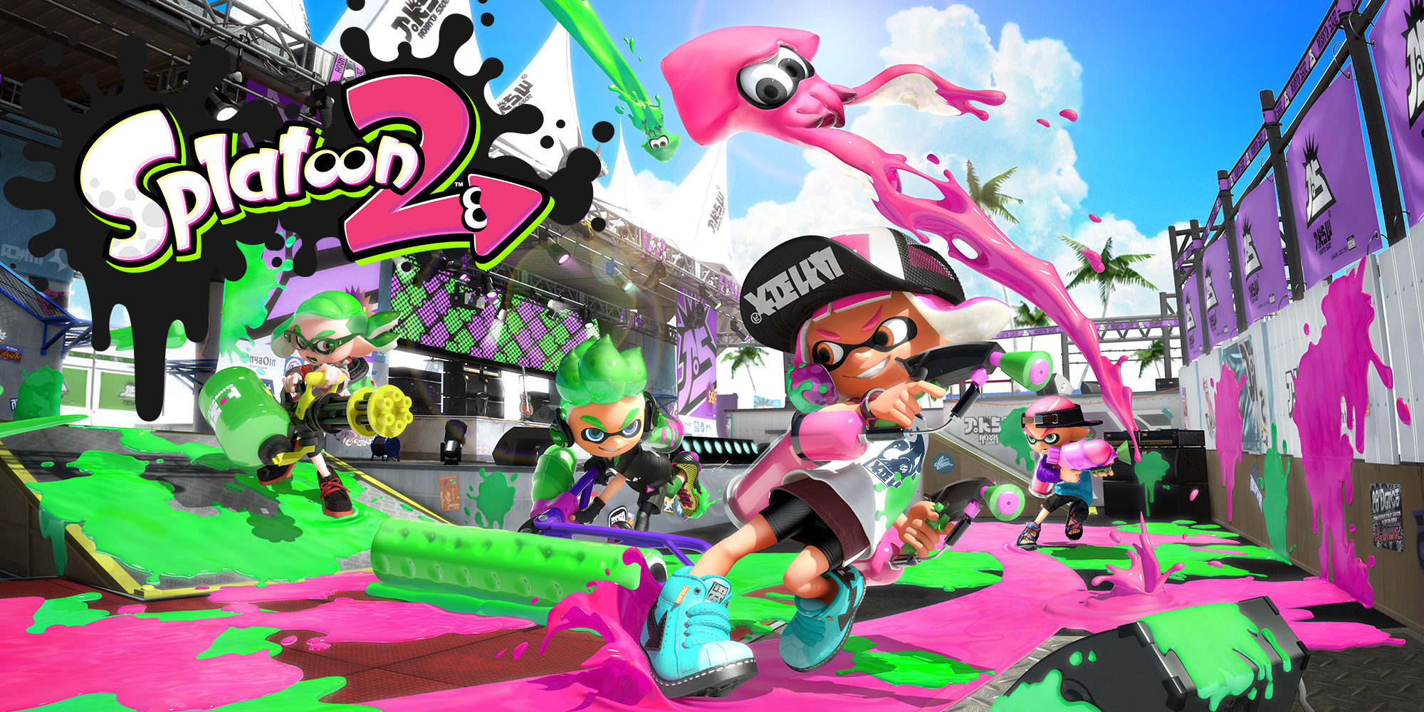 The Splatoon 2 Global Testfire starts today on Nintendo Switch!