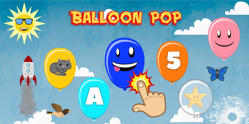 Balloon Pop for Toddlers & Kids - Learn Numbers, Letters, Colors & Animals