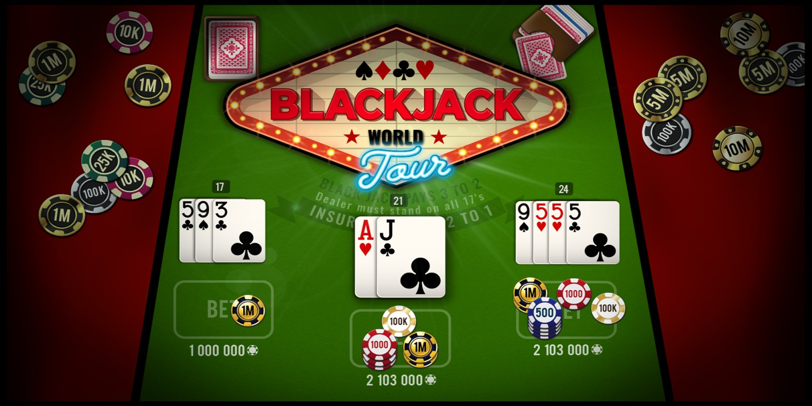 Black Jack World Tour | Nintendo Switch download software | Games | Nintendo