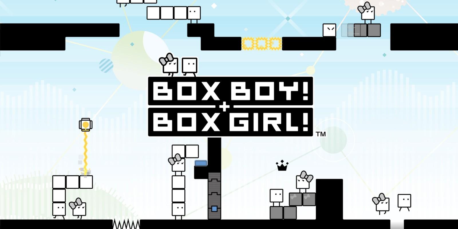 Resultado de imagen de portada videojuego Box Boy! + Box Girl! nintendo switch