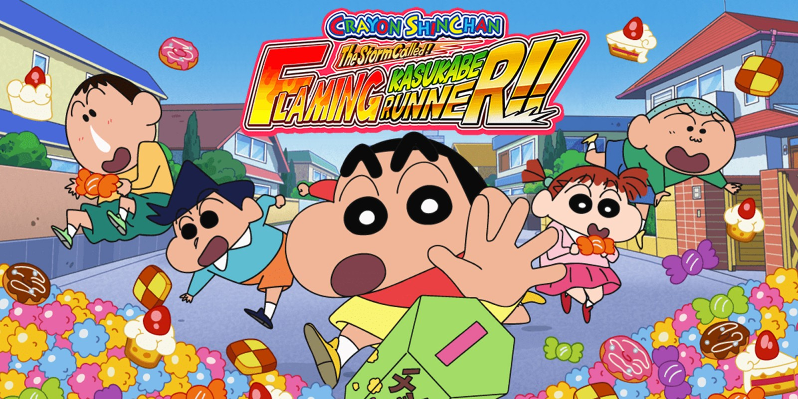 CRAYON SHINCHAN The Storm Called FLAMING KASUKABE RUNNER!!