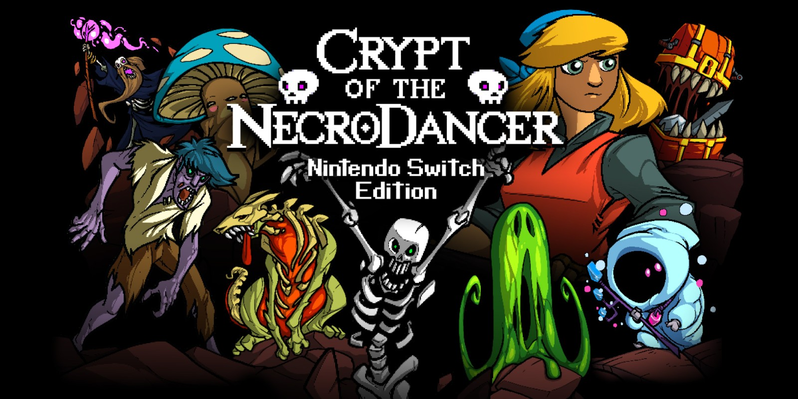 Resultado de imagen de portada Crypt of the NecroDancer: Nintendo Switch Edition