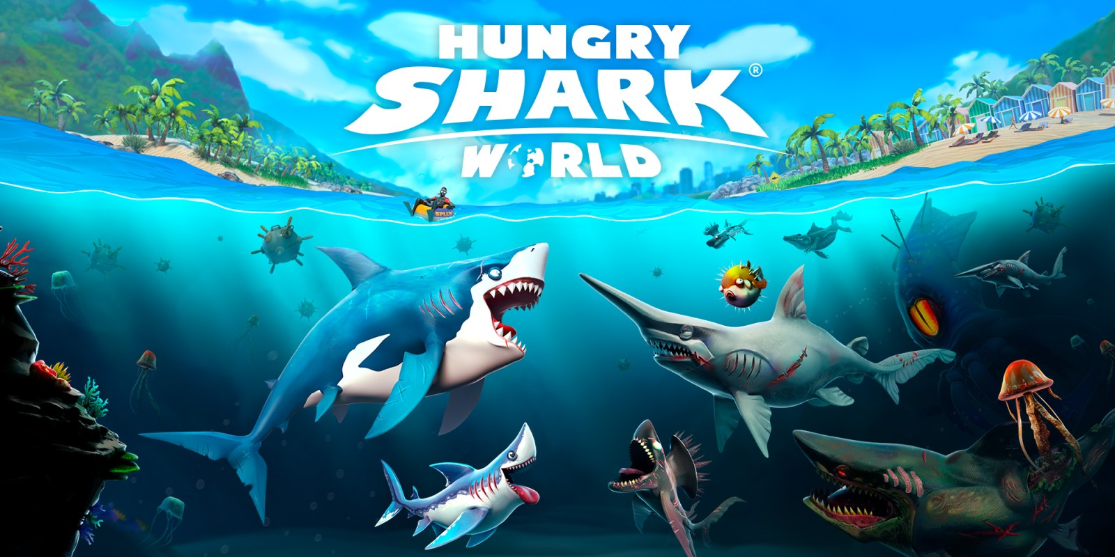 how to get a key in hungry shark
