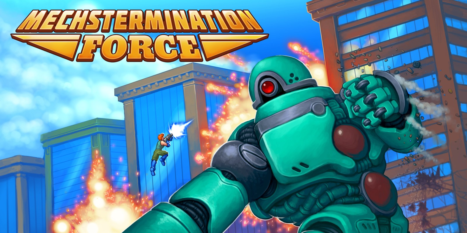 Resultado de imagen de portada Mechstermination Force nintendo switch