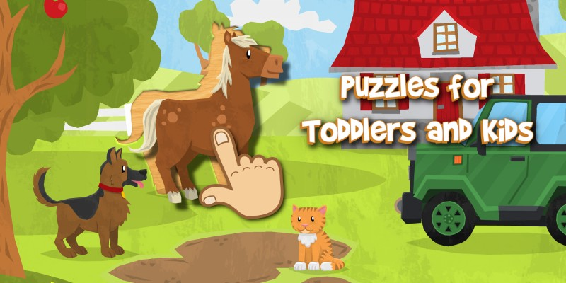 Puzzles for Toddlers & Kids: Animals, Cars and more