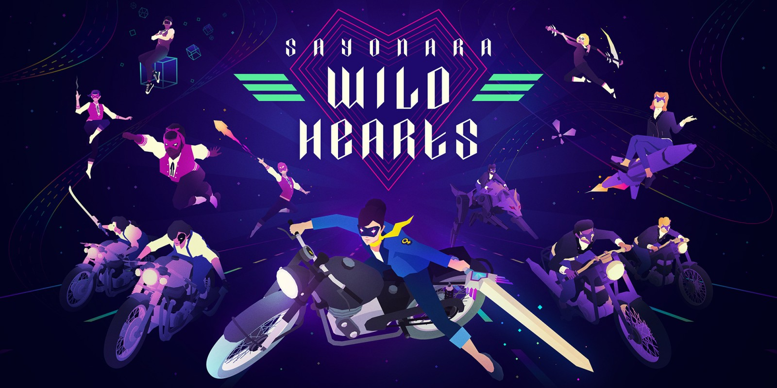 Картинки по запросу Sayonara Wild Hearts