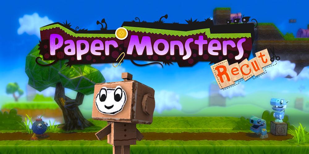 Wii U Downloadable Games : Paper monsters recut wii u download software games