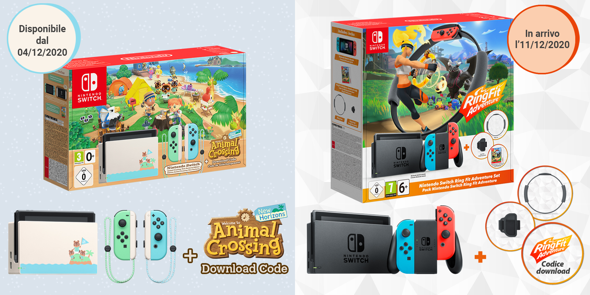 Due bundle Nintendo Switch disponibili per le feste!