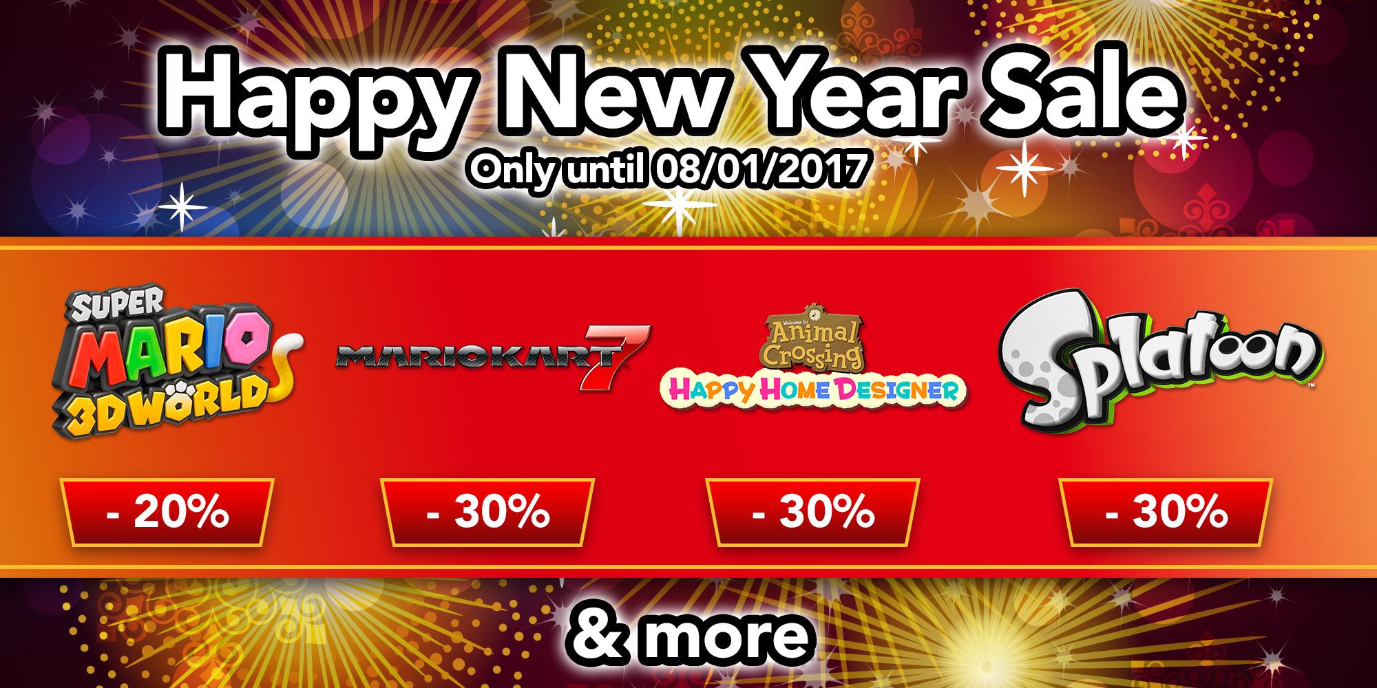 Nintendo Eshop Sale Happy New Year News Step Diagram For Mario