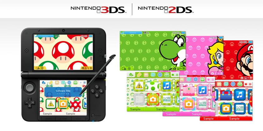 Home Menu Themes Nintendo 3ds Family Nintendo