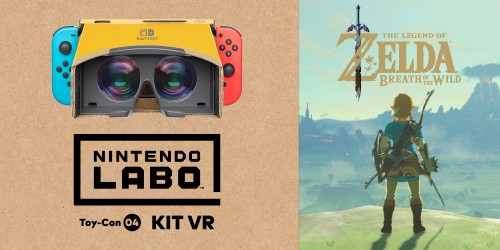 Scopri come puoi giocare a The Legend of Zelda: Breath of the Wild con il visore VR e Nintendo Labo!