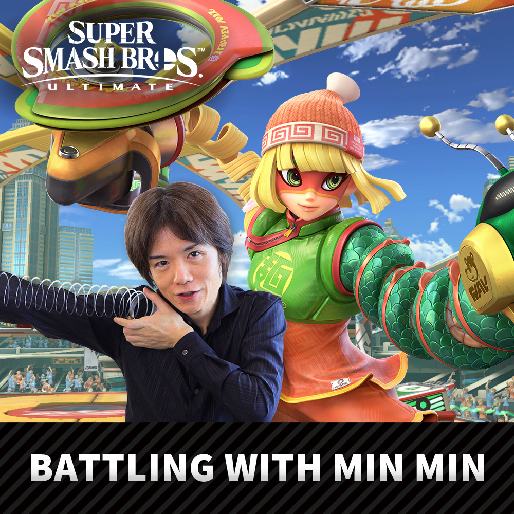 Min Min from ARMS joins Super Smash Bros. Ultimate on June 30th!