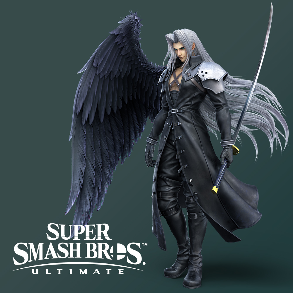 Sephiroth mengt zich als DLC-vechter in de strijd in Super Smash Bros. Ultimate!