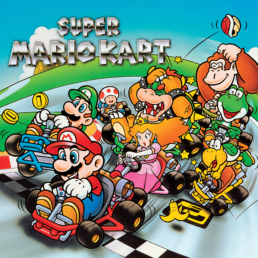 super mario kart super nintendo juegos nintendo. Black Bedroom Furniture Sets. Home Design Ideas