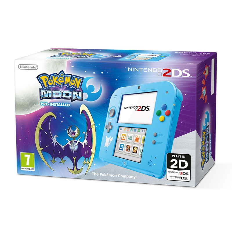 Nintendo 2DS Special Edition + Pokémon Moon