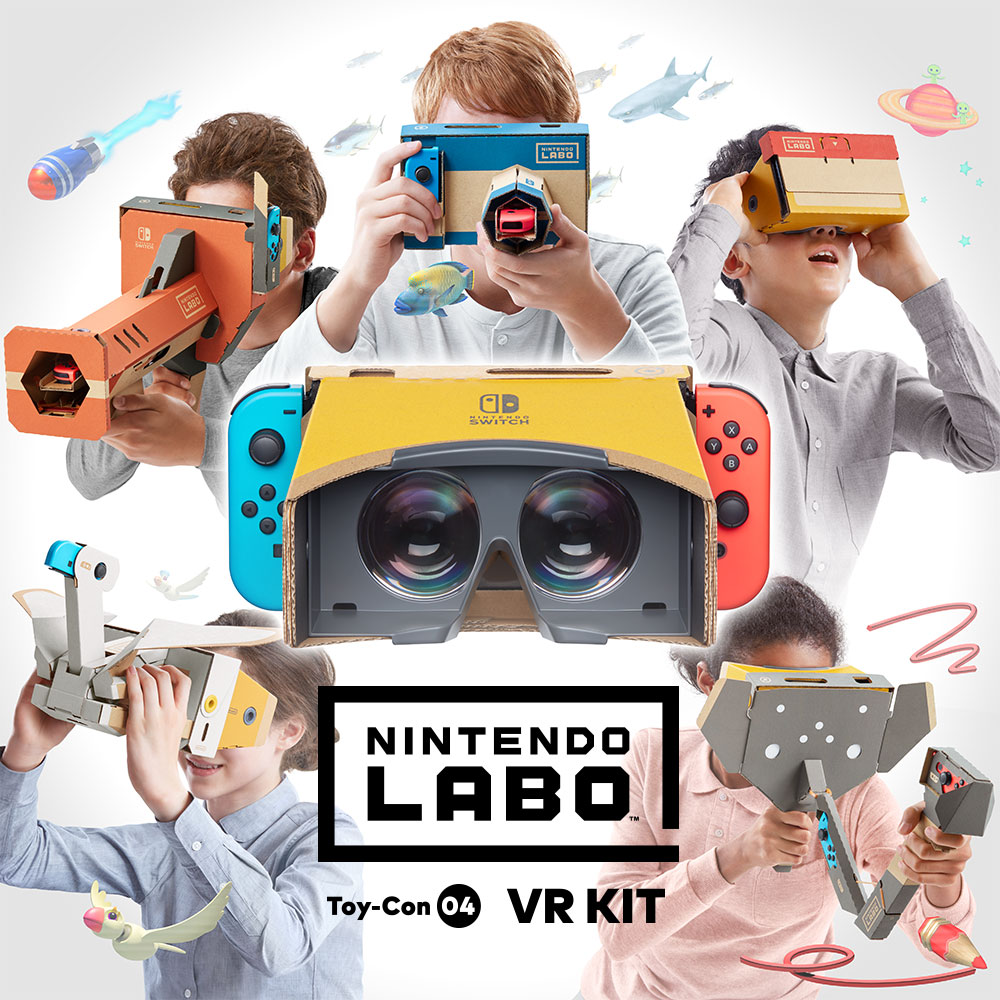 Nintendo Labo: VR Kit introduces simple, shareable VR gaming experiences, launching April 12th!