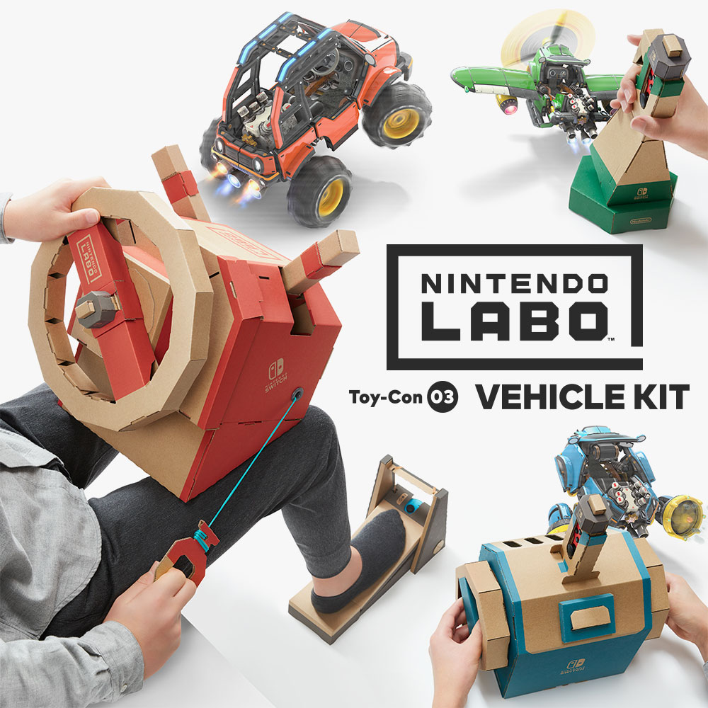 Drive, dive and fly with the new Nintendo Labo: Vehicle Kit for Nintendo Switch