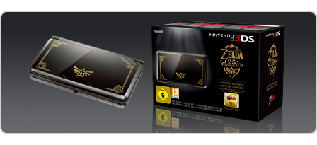 Nintendo announces limited edition the legend of zelda 25th anniversary bundle 2011 news - Ocarina of time 3ds console ...