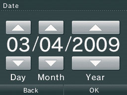 how to change the date on dsi